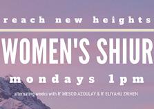 Women's Shiur